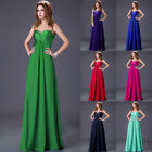 New Beadings Bridesmaid Wedding Party Prom long Evening Dress In stock UK 6 - 20