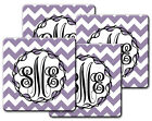 CUSTOM 4 PIECE COASTER SETS - PERSONALIZED WITH MONOGRAM