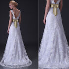 Mermaid White/Ivory Lace Wedding Dress Bridal Gown UK Size 6 8 10 12 14 16 18 20