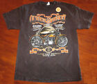 Mens Dark Brown Distressed Biker T-Shirt Sizes XL, 2XL ~ Ol' Bikes & Whiskey~