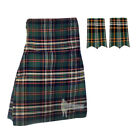 MENS SCOTTISH TARTAN DELUXE 8-YD KILT & FLASHES SET - HERITAGE IRELAND - SIZES!