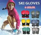 New men's waterproof fabric ski gloves/winter outdoor sports warm gloves 6 Color