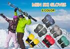 men's waterproof fabric ski gloves/winter outdoor sports warm gloves *6 Color