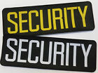 Security Woven Badge Back Patch Large 30cm x 10cm