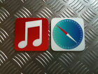 iPhone novelty app picture Coaster Set ios7 Brand new apple mac ipad ipod imac