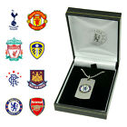 Personalised Football Club Pendant Chelsea ManUtd Liverpool Leeds Spurs Fan Gift