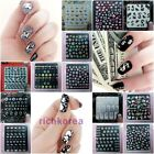 3D New Nail Art Stickers decals Various Luxury flower colorful designs 1+1 Pick