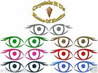 2 sm eyes HOLO IRON-ON BLING NOVELTY DIY PARTY TSHIRT TRANSFER APPLIQUE patch