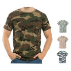 Military Woodland Camouflage Camo Army Hunting T-Shirt T-Shirts Tees S M L XL 2X