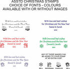 PERSONALISED / CUSTOMISED CHRISTMAS RUBBER STAMP, 4913 SELF INKING ASSTD COLOURS