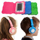 Leather PU Folio Book Case with Stand Cutout and Headphones for vTech InnoTab 2