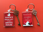 Santa's Magic Key & Personalised Keyring - Design & Key Colour Choice - Gift Bag