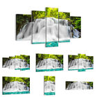 44 Shapes PREMIUM Canvas Picture/Print Wall Art Waterfall River Forest 2511 en