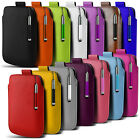 Leather PU Pull tab Pouch Case & Retractable Pen For Various Nokia Mobile Phones