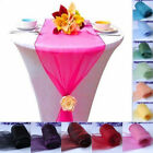 10Pcs Sheer Organza Table Runner Swag Decoration Wedding Chair Sash Bow 275*30cm
