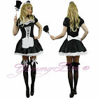 French Maid Fancy Dress Costume Ladies Plus Size 6 8 10 12 14 16 18 20 22 24