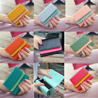 Kroean Girl Synthetic Colorful Leather Clutch Coin Wallet Zipper MINI Bag Purse