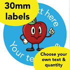 30mm Personalised Reward stickers 'Apple' English Science Math Teacher label kid
