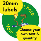 30mm Personalised stickers 'Book worm' English Science Math Teacher Read label
