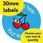30mm Personalised stickers 'Cherry' School Food Praise Win Teacher Award label