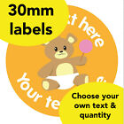 30mm Personalised stickers 'Teddy Lolly' Bear School Picnic Teacher Award label