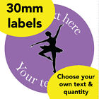 30mm Personalised stickers 'Ballerina' Dance sport class Teacher Award label