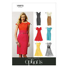 Vogue V8872 Sewing Pattern Misses' Dress - Close Fitting Bodice - Easy - Options