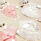 Hot Baby Girls Kids Princess Party Birthday Lace Floral Bow Formal Dress Clothes