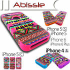 Heavy Duty Durable Aztec Tribal Case Cover for Apple iPhone 4S 5C 5S SE 6S Plus