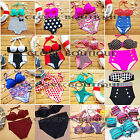 2014 Retro 50s Pinup Vintage top&bottom High Waist Women Bikini Swimwear SMLXL