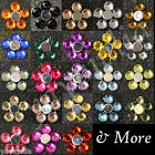 1K 1000 pcs Acrylic Crystal Round Flat Back Rhinestones Gems Lot Color Wholesale