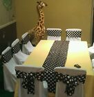 """40 Polka Dot Satin Table Runners 12""""x108"""" Wedding Party Event Decoration Banquet"""