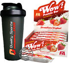 FA FITNESS AUTHORITY WOW PROTEIN BARS 12x60G AMAZING TASTE LOW FAT HIGH PROTEIN