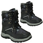 BOYS WINTER SNOW MOON MUCKER WATERPROOF WELLINGTON WELLIES BOOTS SHOE ARMY