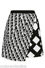 NEW! Peter Pilotto Target Lined Cloqué Skirt Black & White Abstract Wrapeffect