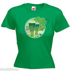 Happy St Patrick's Day Irish Drinking Ladies Lady Fit T Shirt Size 6 -16