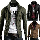 Cool Men's Military Casual Blazer Jackets Basic Coat Decent Outerwear Overcost