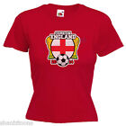 Come On England World Cup Brazil 2014 Ladies Lady Fit T Shirt Size 6 - 16