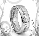 "8MM LOTR ""THE ONE RING"" SOLID TITANIUM BAND RING  B/N"
