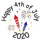 120 4th of July - Patriotic - Fireworks - Hershey Kisses Labels - Party Favors