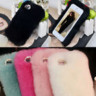 Luxury Winter Warmer Rex Rabbit Fur Back Case Cover For Samsung Galaxy S4 NOTE