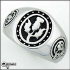 Men's Ashling Aine 316L S.Steel Scottish Thistle Lion Rampant Signet Ring