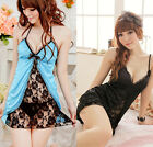 Women's Hot Sexy Lingerie Lace Dress Underwear Set Babydoll Sleepwear+G-string