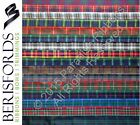 2 METRES Berisfords Scottish Approved Tartan Ribbon 7mm 10mm 16mm 25mm 40mm 70mm