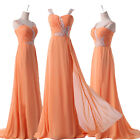 2014 Prom Bridesmaid Formal Party Evening Pageant Dresses Wedding Ball Gown Long