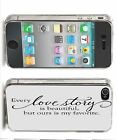 'Love Story' Iphone Case (4,4s,5,5s,5c) Love Quote