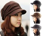 Military Cap Ladies Beret Baggy Military Hat Womens Caps Girls Army Beanie Hats