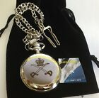 APTC POCKET WATCH - ARMY  CREST ENGRAVED, COMES WITH VELVET POUCH