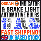 OSRAM VARIOUS INDICATOR-BRAKE-INTERIOR-FOG-SIDELIGHT-NUMBER PLATE BULBS SALE