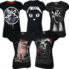 Darkside Clothing Women's GOTHIC DESIGN Tees Collection Goth Rock Wiccan Street